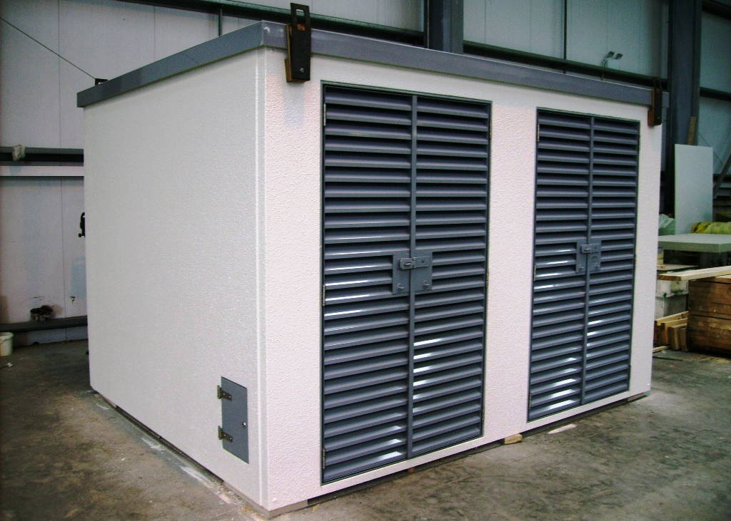 GRP Enclosure with Louvre Doors